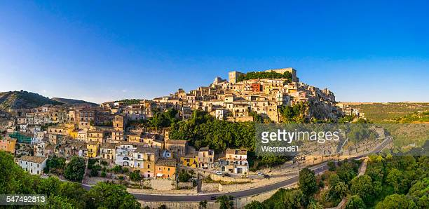 Italy, Sicily, Province of Ragusa, Ragusa, View to Ragusa Ibla, Val di Noto