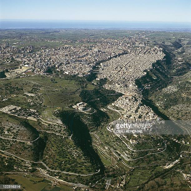 Italy Sicily Region Ragusa Aerial view