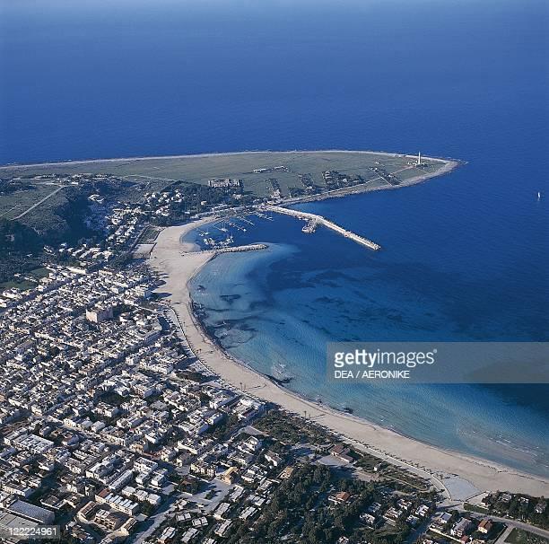 Italy Sicily Region San Vito lo Capo Aerial view