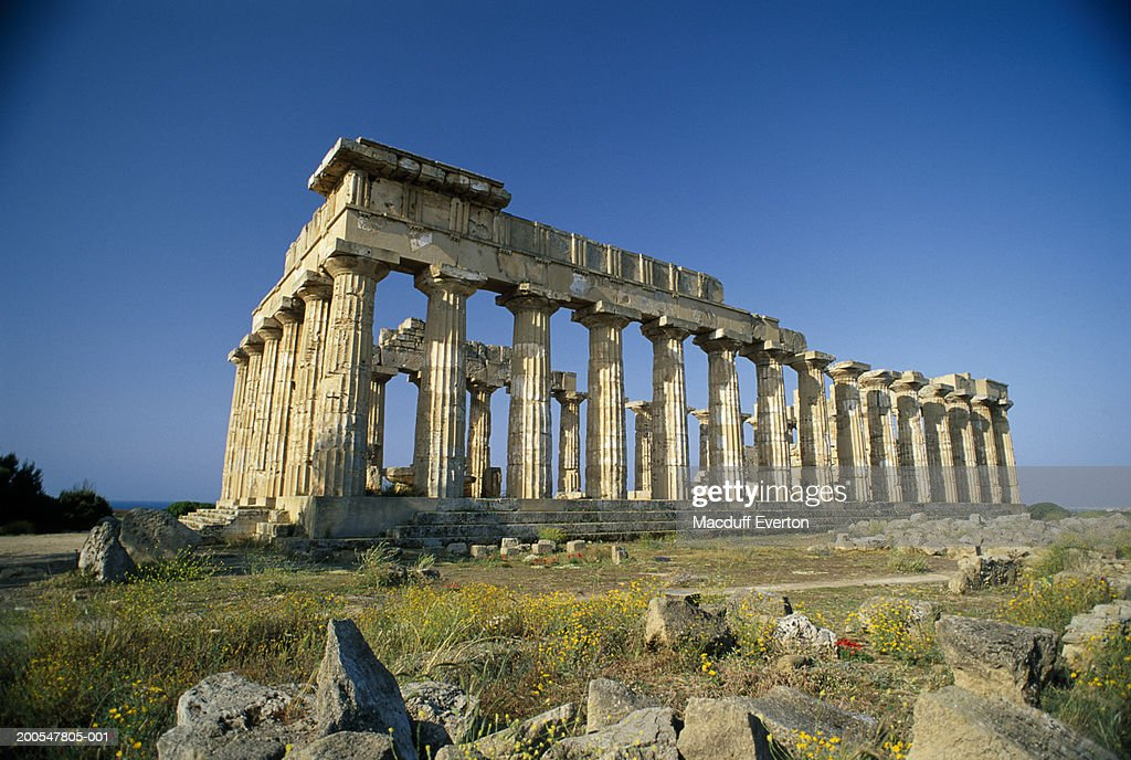 Selinunte Italy  city photos gallery : Italy Sicily Selinunte Temple E Greek Ruins Of Selinunte Stock Photo ...