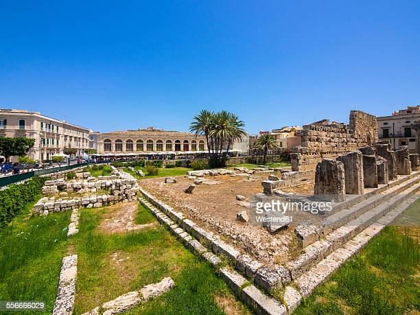 Italy, Sicily, Siracusa, Temple of Apollo