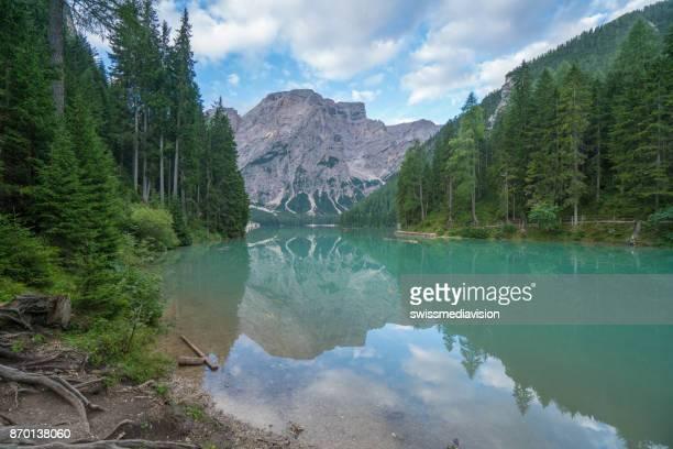 Italy, South Tyrol, Dolomites, Prags, Braies, Pragser Wildsee