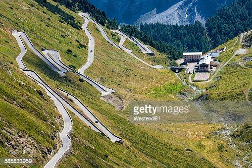 Italy, South Tyrol, Vinschgau, Passo desso Stelvio, Mountain pass