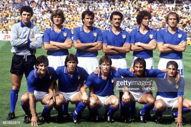 Italy team group Dino Zoff Giancarlo Antognoni Gaetano Scirea Claudio Gentile Fulvio Collovati Francesco Graziani Paolo Rossi Bruno Conti Gabriele...