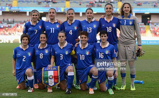 Italy team group during the FIFA U17 Women's World Cup Group A match between Italy and Zambia at Estadio Nacional on March 15 2014 in San Jose Costa...