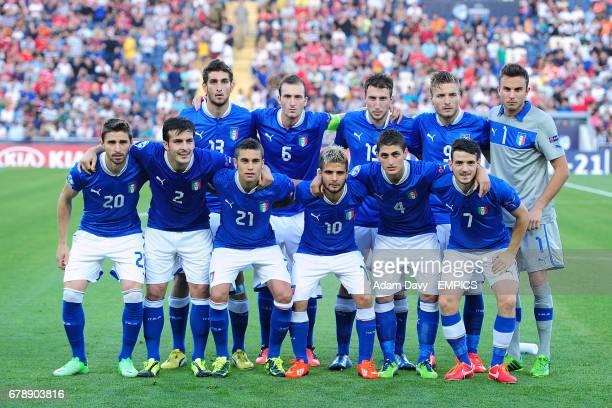 Italy team group Matteo Bianchetti Luca Caldirola Vasco Regini Ciro Immobile Francesco Bardi Fabio Borini Giulio Donati Fausto Rossini Lorenzo...