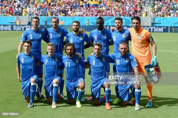 Italy team group Thiago Motta Giorgio Chiellini Antonio Candreva Mario Balotelli Andrea Barzagli Gianluigi Buffon Matteo Darmian Ignazio Abate Andrea...
