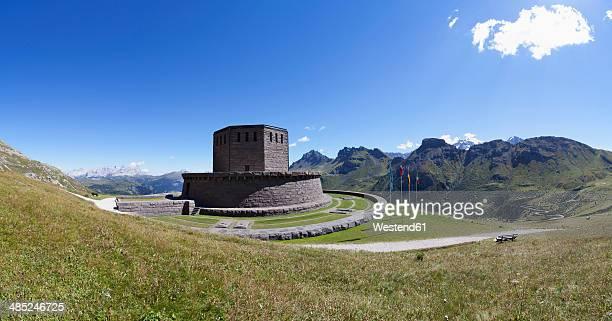 Italy, Trentino, Belluno, Soldier cemetery at Pordoi Pass