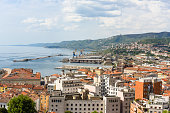 Italien, Triest Stadt am Meer als Hintergrund