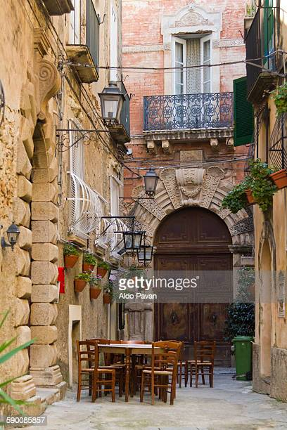 Italy, Tropea, palace Braghò in via Dardano