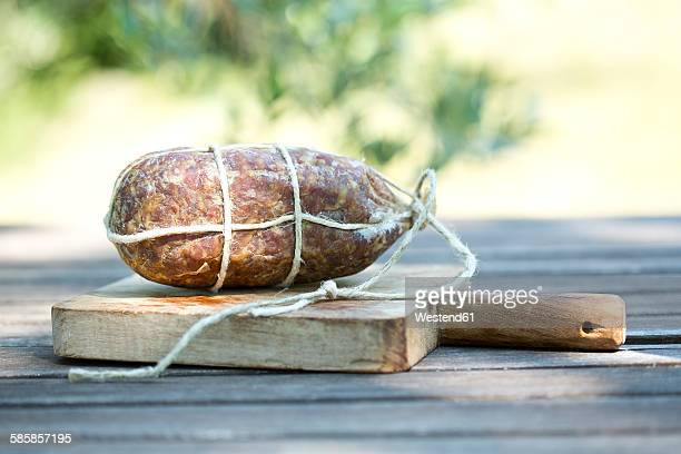 Italy, Tuscany, Briciolona on wooden board