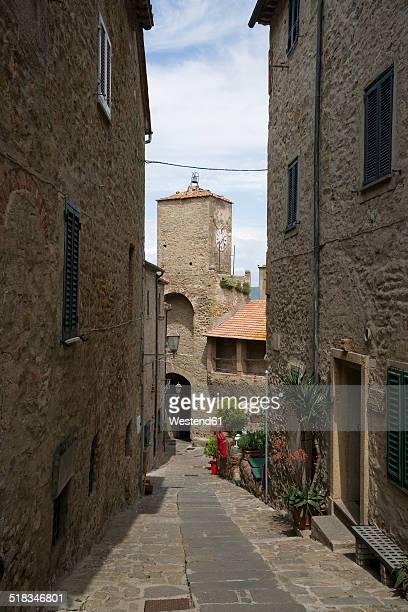 Italy, Tuscany, Castiglione della Pescaia, Old town