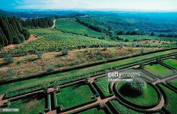 Italy Tuscany Chianti Gardens Of Brolio Castle