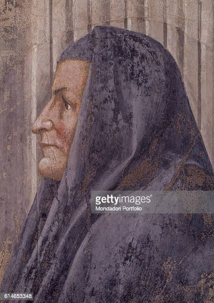 Italy Tuscany Florence Basilica di Santa Maria NovellaProfile portrait of Monna Sandra wife of the work's patron