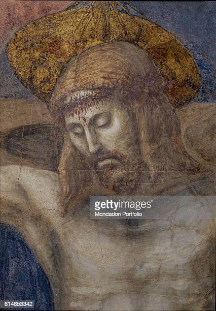 Italy Tuscany Florence Basilica di Santa Maria NovellaThe peaceful face of Christ whose head is surrounded by an halo
