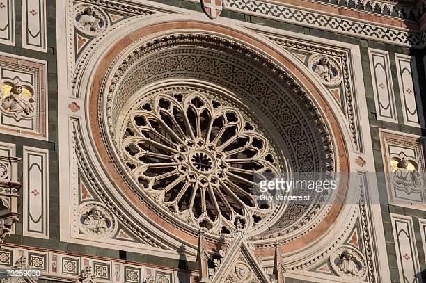 Italy, Tuscany, Florence, Cathedral Basilica di Santa Maria del Fiore, circular window