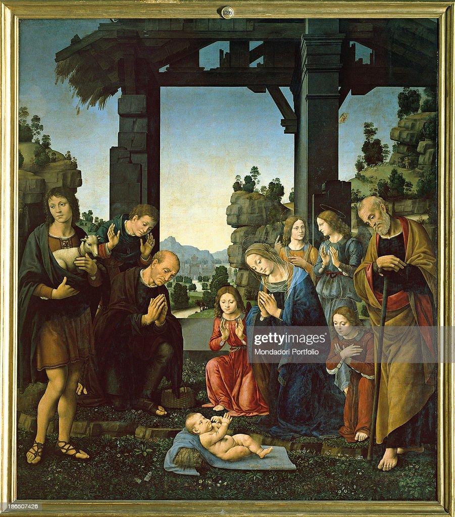 adoration of the child adorazione del bambino by lorenzo di