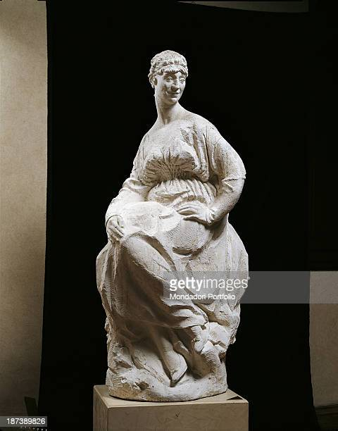 Italy Tuscany Pescia Gipsoteca Libero Andreotti All A female figure seated in a plastic pose having a empire hairdo and wearing a neckline dress