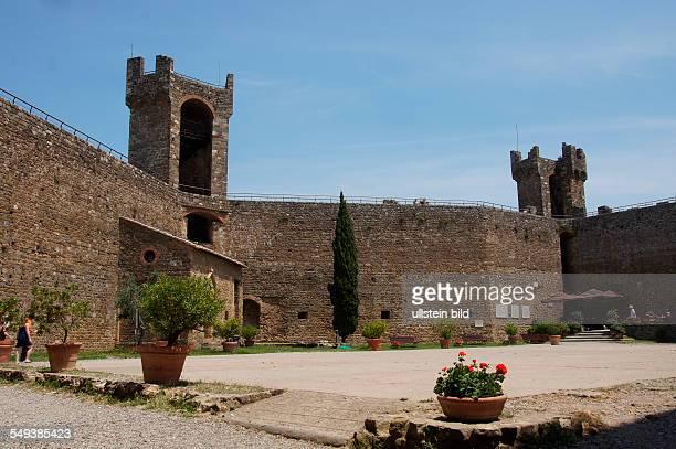 Italy Tuscany Province of Siena Montalcino Castle