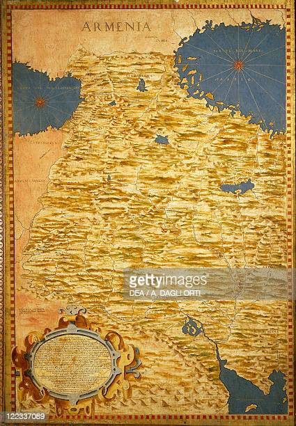 Italy Tuscany region Florence Palazzo Vecchio Hall of the Geographical Maps Map of Armenia oil painting by Stefano Buonsignori 15751584