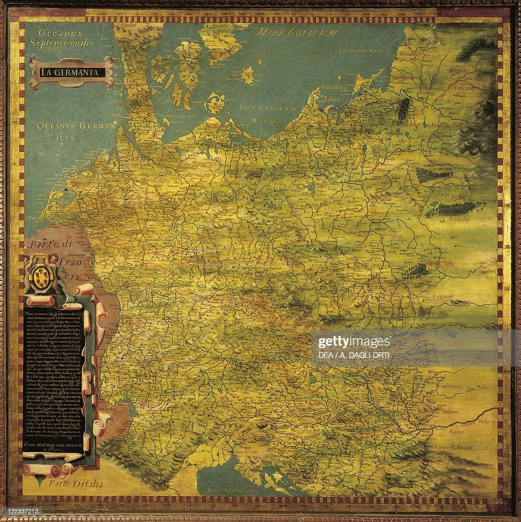 Map Of Germany By Stefano Buonsignori Oil Painting - Germany map geographical