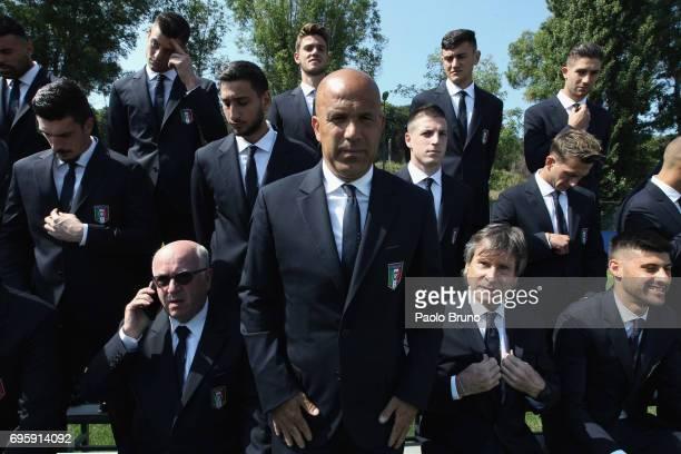 Italy U21 head coach Luigi Di Biagio looks on during the official team photo at Centro Sportivo Fulvio Bernardini on June 14 2017 in Rome Italy