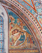 Italy Umbria Assisi Papal Basilica of St Francis of Assisi Upper Basilica All Adoration of the Shepherds