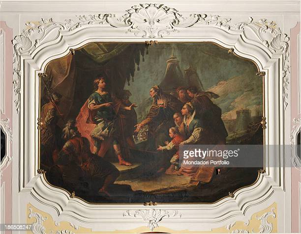 Italy Veneto Treviso Vittorio Veneto Zuliani Ascoli palace Whole artwork view The meeting between the Darius III family and Alexander the Great after...