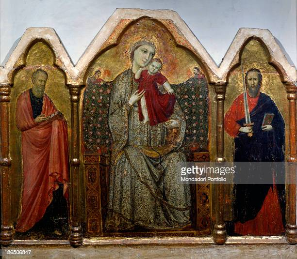 Italy Veneto Venice Correr Museum Whole artwork view In the first compartment on the left St John the Evangelist with his gospel wrapped in a red...