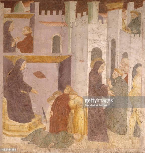 Italy Veneto Villanova San Bonifacio Abbey of saint Peter Apostole Whole artwork view Stories of Saint Benectid