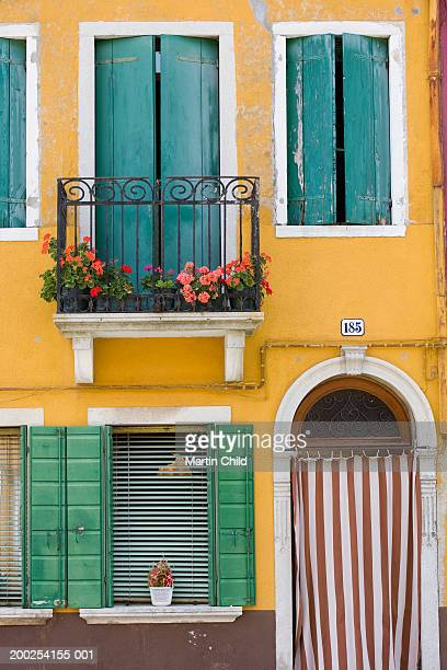 Italy, Venice, Burano, painted houses