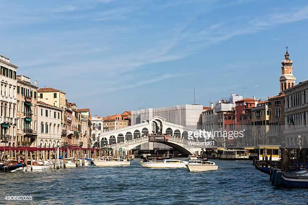 Italy, Venice, Canale Grande, Rialto Bridge