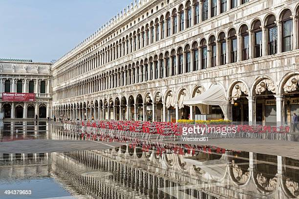 Italy, Venice, Floodwaters on St Mark's Square