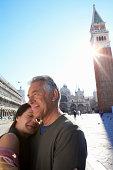 Venice, Italy. Sun flare.