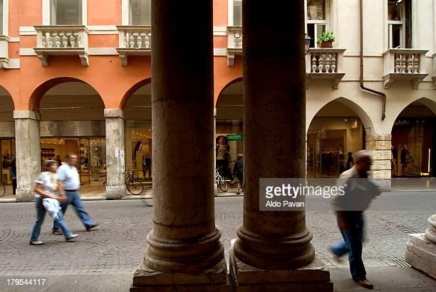 Italy, Vicenza, corso Palladio, arcades