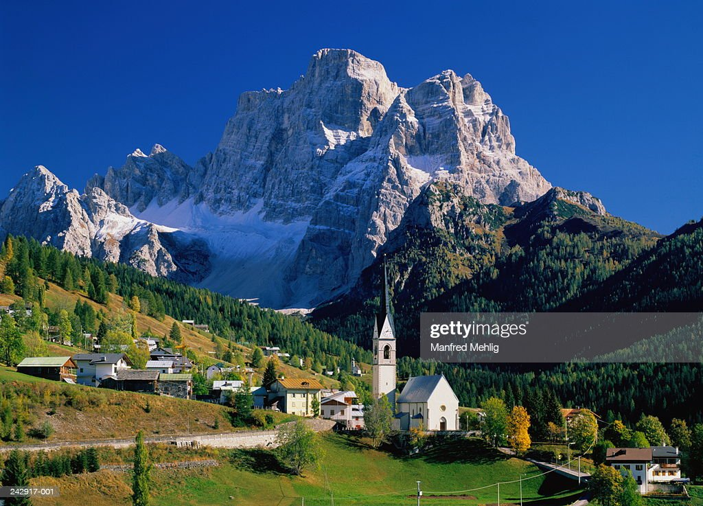 Selva Di Cadore Italy  City pictures : Italydolomitesselva Di Cadore Monte Pelmo Stock Photo | Getty Images