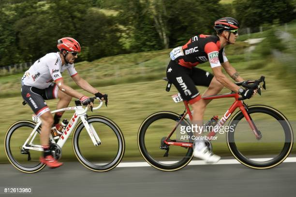Italy's Alessandro De Marchi and Germany's John Degenkolb ride during the 178 km tenth stage of the 104th edition of the Tour de France cycling race...