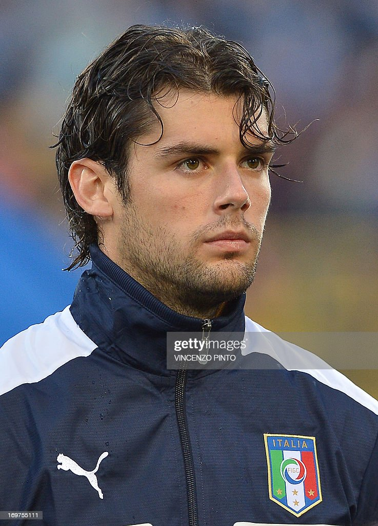 Poli Italy  City pictures : Italy's Andrea Poli poses prior a friendly football match against san ...