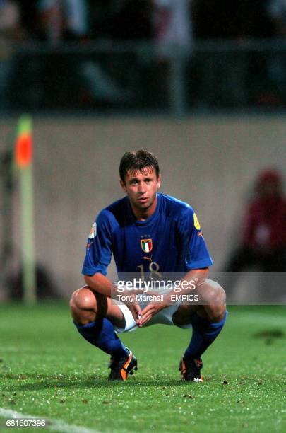 Italy's Antonio Cassano is dejected during the game