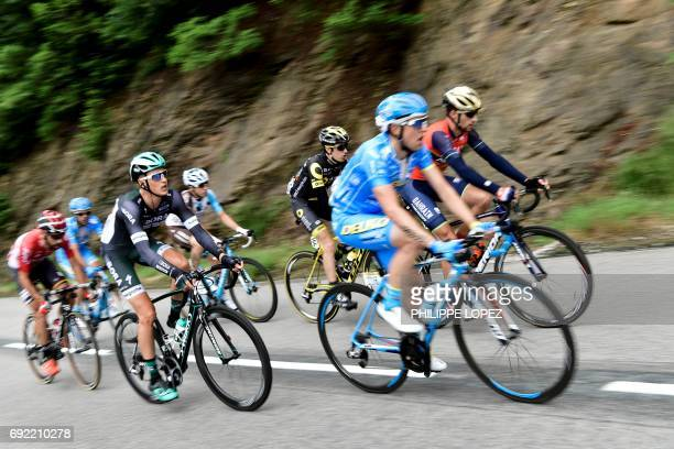 Italy's Antonio Nibali Spain's Angel Madrazo France's Romain Sicard France's Axel Domont Germany's Silvio Herklotz Spain's Delio Fernandez and...
