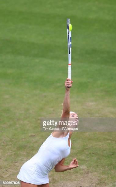 Italy's Camila Giorgi against Ukraine's Elina Svitolina during day four of the 2017 AEGON Classic at Edgbaston Priory Birmingham
