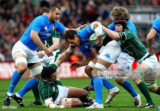 Italy's Captain Sergio Parisse in action during the RBS 6 Nations match at Croke Park Dublin