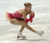 Italy's Carolina Kostner performs her free skating program at the Dom Sportova Arena in Zagreb 26 January 2008 during the European Figure Skating...