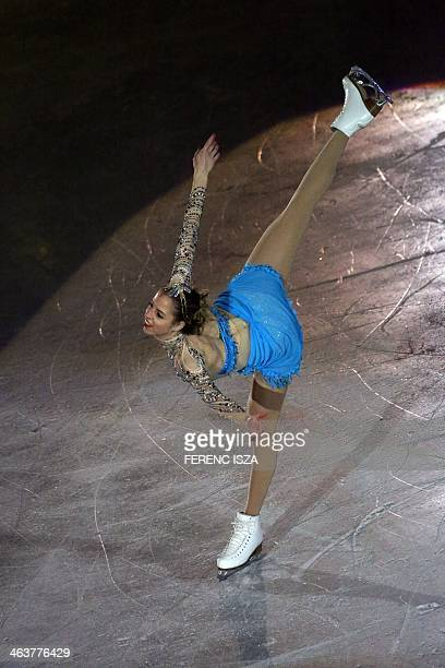 Italy's Carolina Kostner performs on ice during gala exhition of the ISU European Figure Skating Championships in Budapest Hungary on January 19 2014...