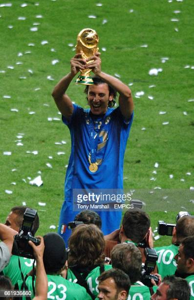 Italy's Christian Zaccardo celebrates with the FIFA World Cup