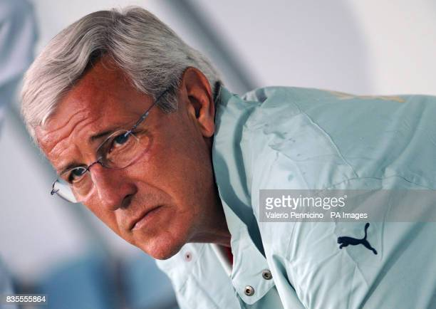 Italy's coach Marcello Lippi during the International Friendly at the Arena Garibaldi Stadium Pisa Italy