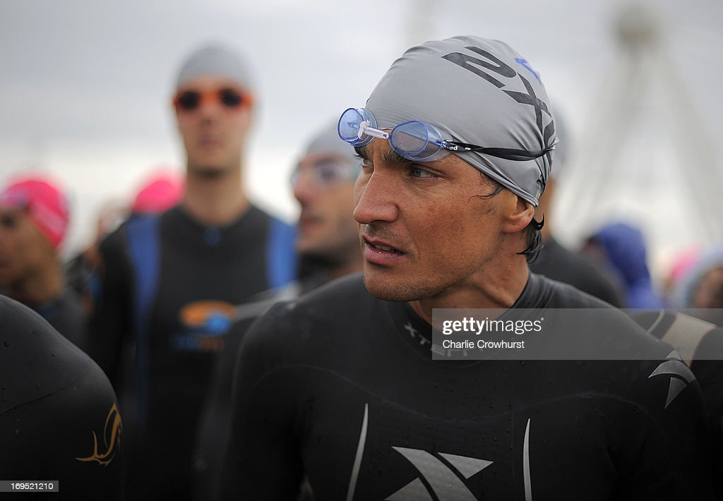Italy's Daniel Fontana during the Challenge Family Triathlon Rimini on May 26, 2013 in Rimini, Italy.