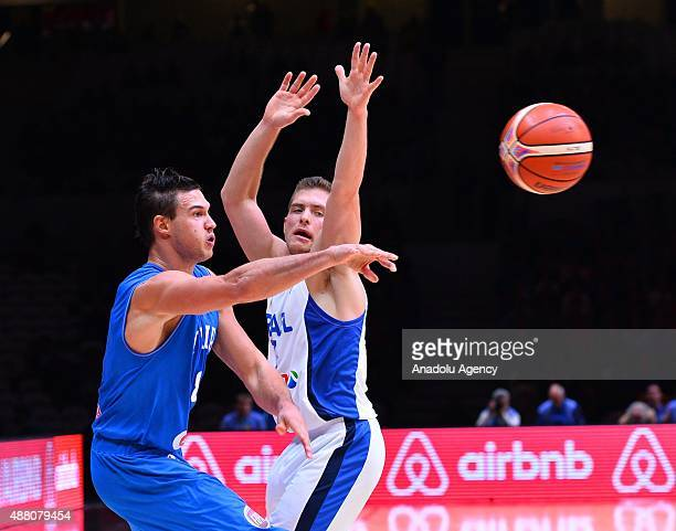 Italy's Danilo Gallinari in action during the EuroBasket 2015 Round of 16 match between Israel and Italy at the Pierre Mauroy Stadium in Lille on...