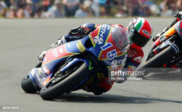 Italy's driver Roberto Locatelli during the 250cc race