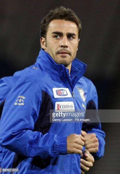 Italy's Fabio Cannavaro during a training session at Hampden Park Glasgow